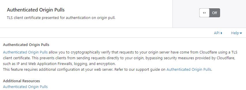 Cloudflare Origin Pulls